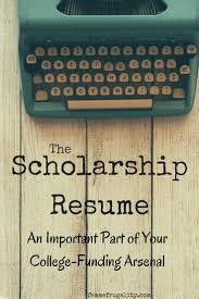 Scholarship Resume Why A Scholarship Resume Is An Important Part Of Your College 76