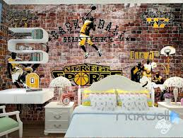 wall mural decals for kids brick street sports wall paper wall mural decals  kids room brick