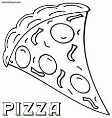 Small Picture Coloring Download Pizza Color Page Pizza Steve Coloring Pages