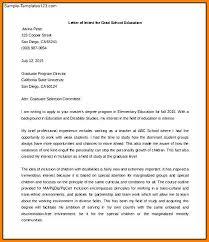 Intent Letter Sample For School 5 Graduate Letter Of Intent Pear Tree Digital