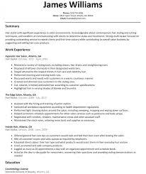 Hair Stylist Resume Sample Resumelift Resume Templates Design