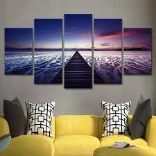 Woonkamer Hd Gedrukt Schilderen Wall Art Foto Woondecoratie 5 Panel