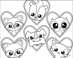 cute animals clipart black and white. Unique White Valentine Clipart Animal Love Personal And Limited Commercial Use Cute  Animals In Hearts Blackline Clip Art To Black And White 0
