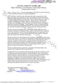 Toutes Les Infos Sur Bel Ami Lieux Et Dates De Tournage Resume