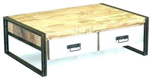 round industrial coffee table. Round Wood And Metal Coffee Table Industrial B
