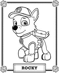 Small Picture Paw Patrol Rocky Coloring Pages 01 Coloring Pages Pinterest