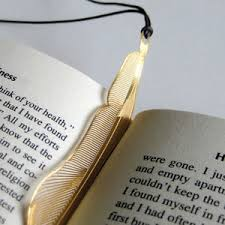 image is loading golden feather 18kgold plated bookmark leather strap korean