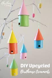 Diy Birdhouse Diy Upcycled Birdhouse Ornaments Rhythms Of Play