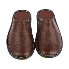details about size 8 brown mens slippers genuine leather closed toe house shoes indoor flats