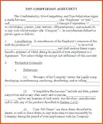 Company Non Compete Agreement Form Clause Template Business Sample ...