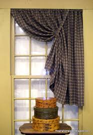 prim checked curtains make for a great window treatment with added prim touches windowscapes window curtain ideas and primitives
