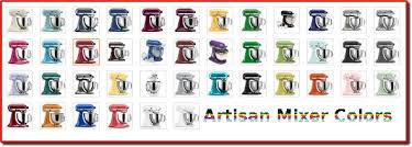 Kitchenaid Artisan Mixer Colors Popular Kitchen Aid Anicomic