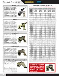 Torque Wrench Settings Chart Hydraulic Pneumatic Manual Bolting Catalog Pages 1 16