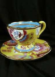 Tracey Porter Tea Cup Saucer Hand Painted Flowers Unused Ceramic Pottery |  eBay