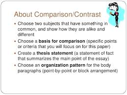 Comparison And Contrast Essay Examples Block Method Of Paragraph