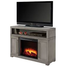 mackenzie 48 inch media electric fireplace in light weathered grey photo of product