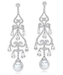 south sea pearl chandelier earrings