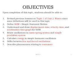 oscillations ppt video online  objectives upon completion of this topic students should be able to