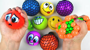 ball toys. kids learn teach colors toddler babies children squish splat ball squishy slime stress balls toys