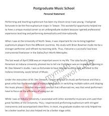 Music Personal Statement How To Write A Personal Statement Main Instructions
