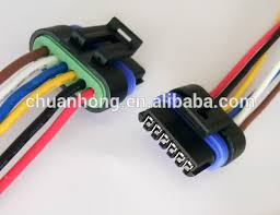 6 way wired pigtail delphi 12162210 w out wiring harness 150 Six Wire Flat Connectors Delphi 6 way wired pigtail delphi 12162210 w out wiring harness 150 sealed series Delphi Automotive Wire Connectors