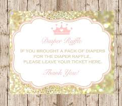 raffle sign princess diaper raffle sign instant download diy printable raffle