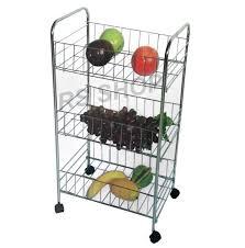 3 tier kitchen fruit vegetable rack on wheels deep storage stand cart trolley