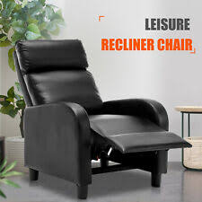 chic leisure recliner sofa chair manual lounge accent couch armchair living room