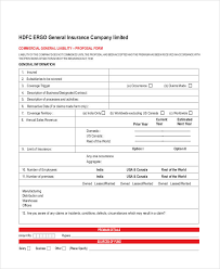 42 insurance proposal form example commercial general liability insurance proposal form 44billionlater commercial general