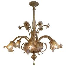 large six arm venetian murano glass chandelier the kairos collective uk