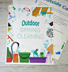 outdoor house cleaning schedule