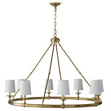 devon 8 light chandelier antique brass