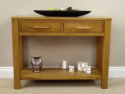 oak console table  oakland  drawer  oak city