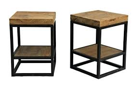 round wood and metal side table modern style wood side table with round wooden high side