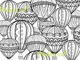 Small Picture Hot Air Balloon coloring page Coloring page intricate