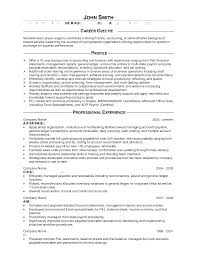 Accounting Objective For Resume Examples Down Town Ken More