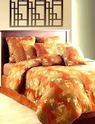 orange king size comforter duvet cover burnt sets new excellent set s queen home improvement wilson