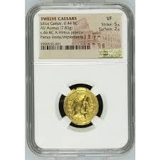 Twelve Caesars 44 Bc 7 83 Gram Twelve Caesars Julius Caesar Av Aureus Gold Coin