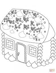 Small Picture Coloring Pages Gingerbread Man Near The House Coloring Page Free