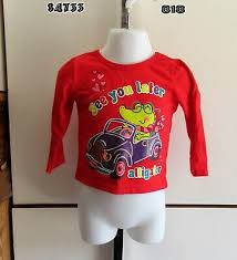 Garanimals Baby Girls Long Sleeve Shirt Solid Graphics 0 3