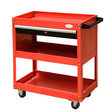 durhand 3 tier tool trolley cart storage shelf roller cabinet diy box garage work with
