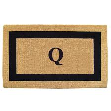 Nedia Home Single Picture Frame Black 38 in. x 60 in. Heavy Duty Coir  Monogrammed Q Door Mat-O2032Q - The Home Depot