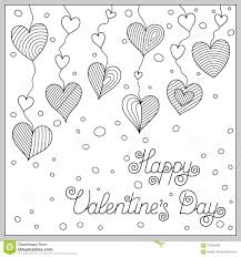 Design Of Page For Coloring Book With Doodle Hearts Stock Vector