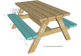 stunning child picnic table plans and ana white build a bigger kids picnic table diy projects