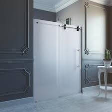 frameless frosted glass shower doors. Display Product Reviews For Elan 56-in To 60-in Frameless Stainless Steel Sliding Frosted Glass Shower Doors