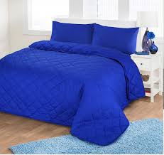 royal blue quilts luxurious plain colour soft quilted embossed bedspread quilt throw