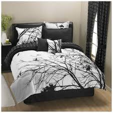 bedroom attractive black and white bedding set with tree design black and white bedding