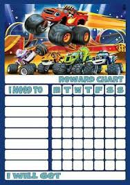 Blaze Monster Machines Reward Chart Free Stars Pen 3