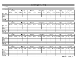 Blood Sugar Tracking Spreadsheet Free Blood Sugar Tracking Average From Formville