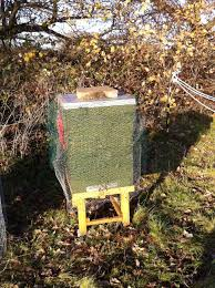 Hive Protected with Wire Netting